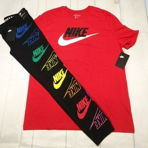 New with tags Nike leggings T-shirt set